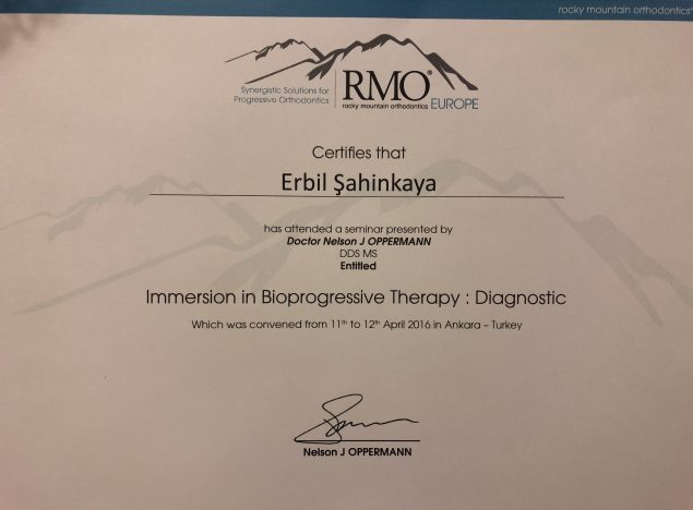 ankara ortodonti sertifikası